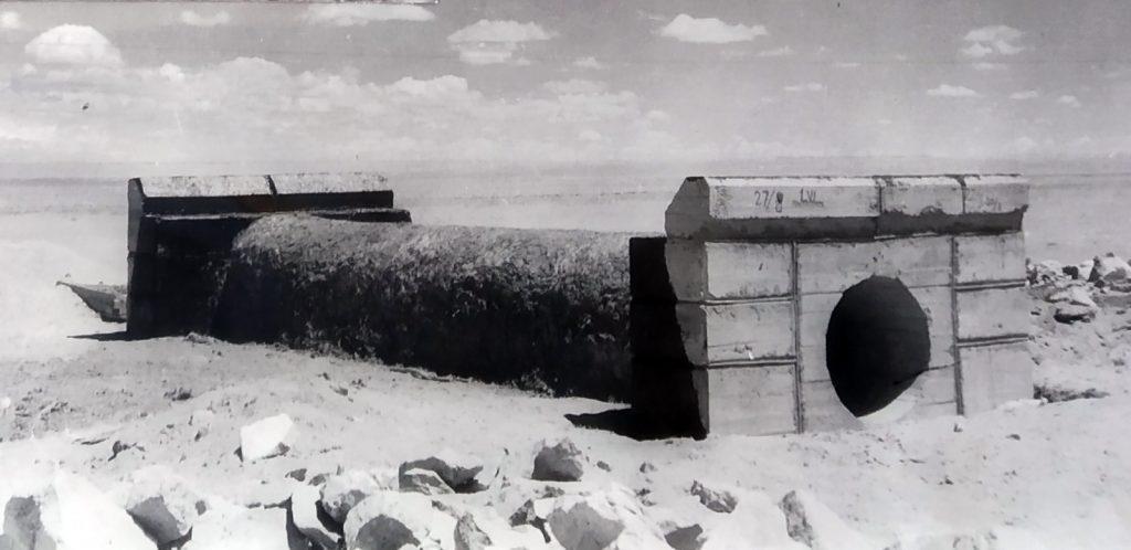 Примерно такую железобетонную трубу соорудил личный состав мостового взвода лейтенанта Г. Сперанского
