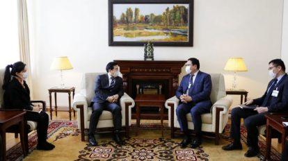 Госсекретарь МИД Монголии провел встречу с послом Республики Корея